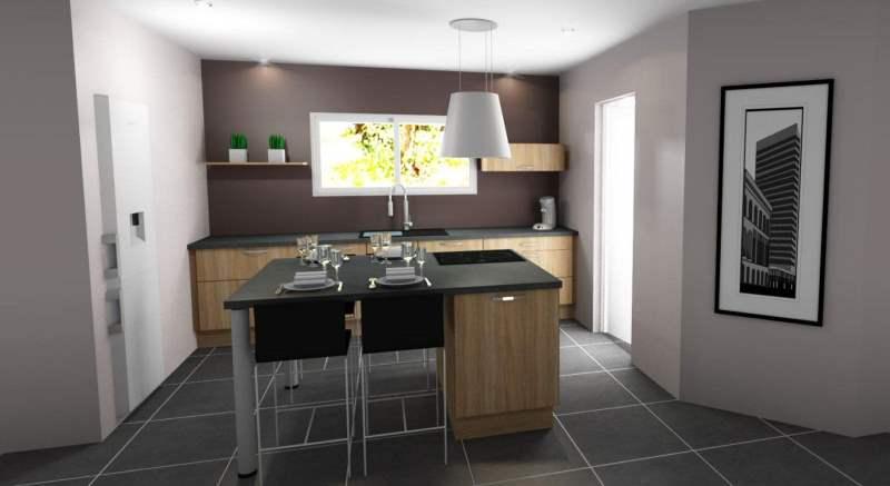 maisons eugie modèle cuisine contemporaine moderne décoration matériaux régionaux construction traditionnelle tarn et garonne montauban