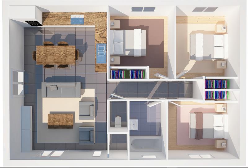 Maison t4 mod le capucine 75 m2 maisons eugie for Modele maison 50 m2