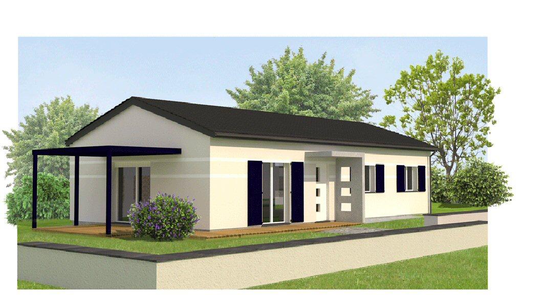 maisons eugie modèle capucine T5 plain pied contemporain moderne décoration façade toiture pente 33% matériaux régionaux construction traditionnelle tarn et garonne montauban