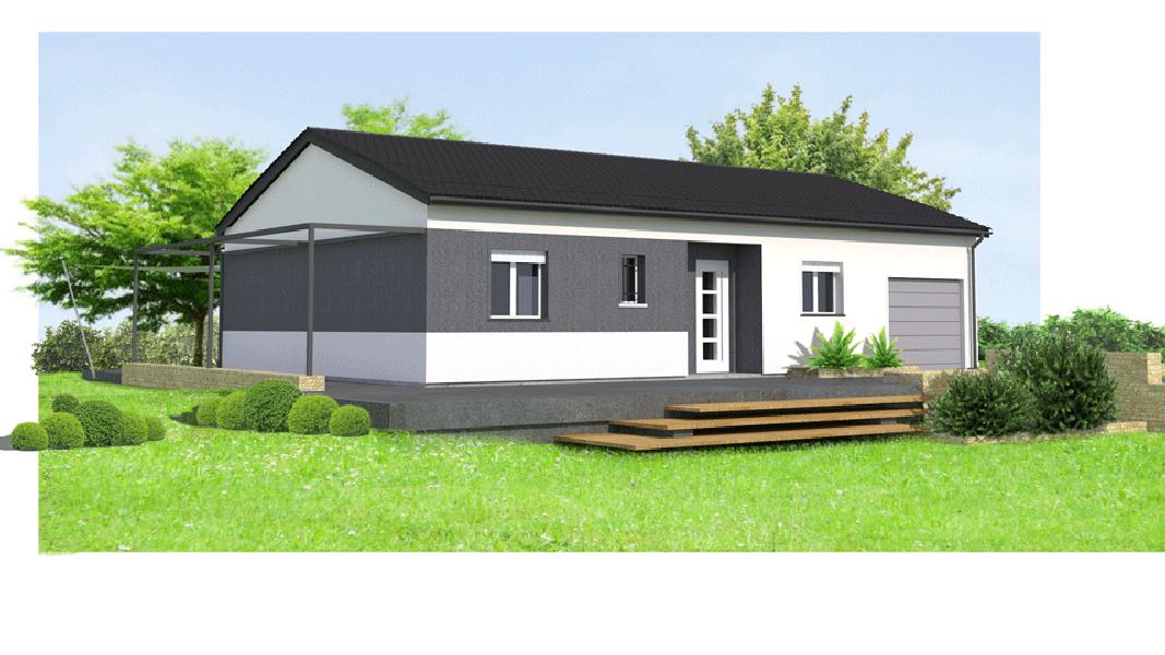 maisons eugie modèle mauve T4 plain pied contemporain moderne décoration façade toiture pente 33% matériaux régionaux construction traditionnelle tarn et garonne montauban