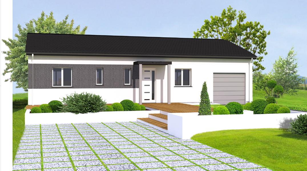 maisons eugie modèle paquerette plain pied contemporain moderne décoration façade toiture pente 33% matériaux régionaux construction traditionnelle tarn et garonne montauban